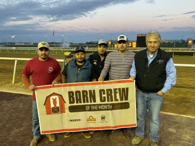 "Gorham Stable Named Final ""Barn Crew of the Month"" for 2019 Season at Indiana Grand"